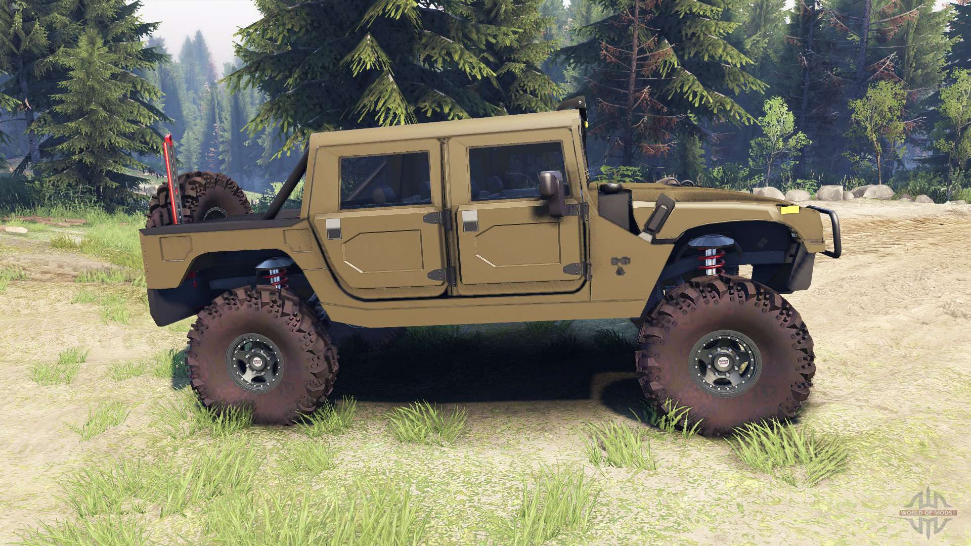 H1 army green for Spin Tires