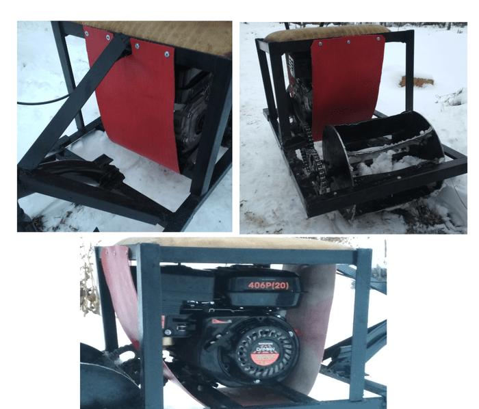 """Snowmobile-stool na may iyong sariling mga kamay, o """"ay nababato"""" snowmobile, homemade, taglamig, libangan, katatawanan, pag-aari na may isang proseso, video, mahaba"""