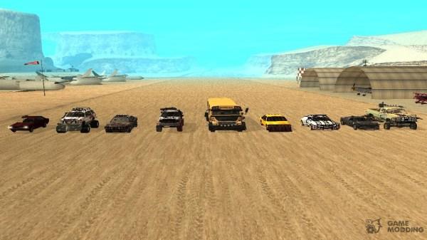 Машины для зомби апокалипсиса v3 для GTA San Andreas