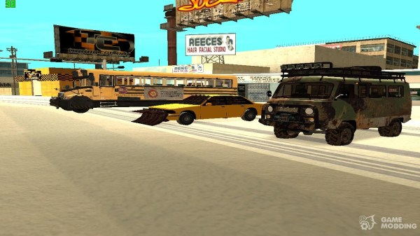 Машины для зомби апокалипсиса для GTA San Andreas