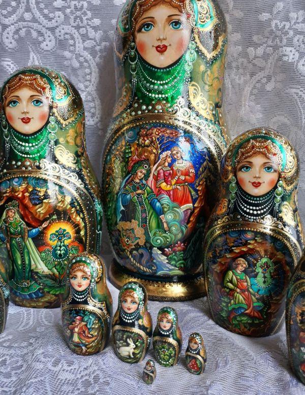 """Матрёшка """"Каменный цветок"""" 10 мест – заказать на Ярмарке ..."""