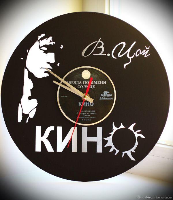 Часы из виниловых пластинок: Виктор Цой и группа Кино ...