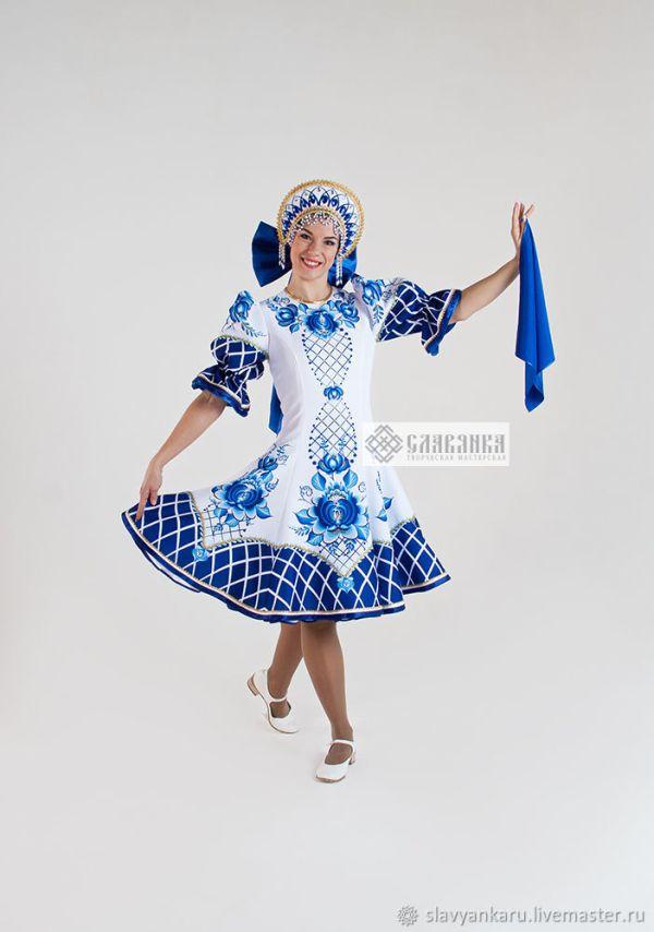 """Танцевальный костюм """"Гжель Белая"""" – купить на Ярмарке ..."""