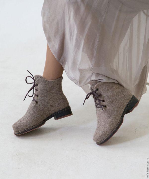 """Валяные ботинки """"Дыхание города"""" – заказать на Ярмарке ..."""
