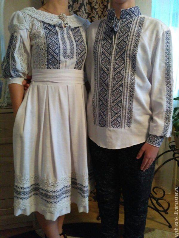 Парные вышиванки вышивка для пары платье вышитое под заказ ...