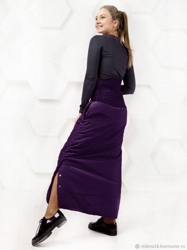 Юбка утепленная темно-фиолетовая – заказать на Ярмарке ...