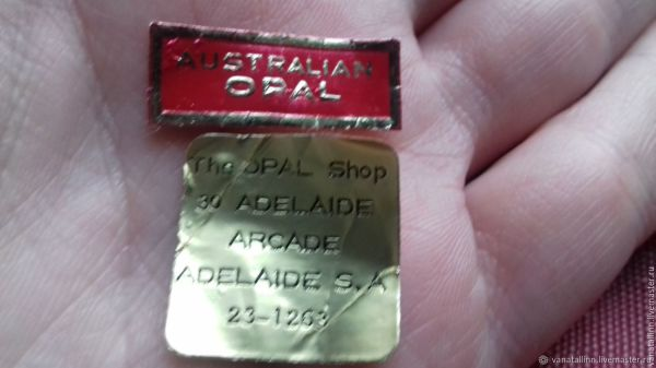 Винтаж: Австралийский черный опал, винтаж – купить на ...