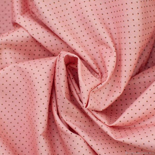 """Ткань хлопок """"Мини горошек на розовом"""" – купить на Ярмарке ..."""