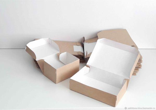 Коробки: из крафт- картона для упаковки – купить на ...