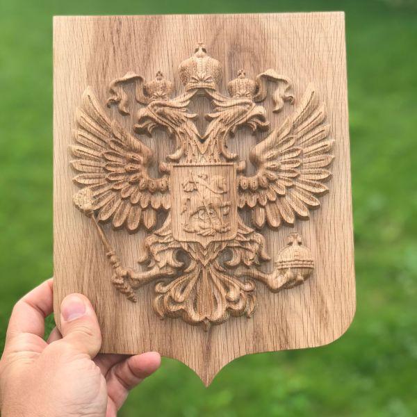 Герб России из дерева – купить на Ярмарке Мастеров ...