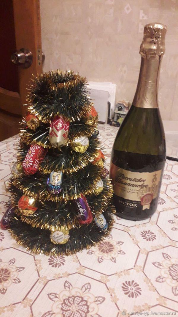 """Новогодние композиции: Новогоднее шампанское """"елка ..."""