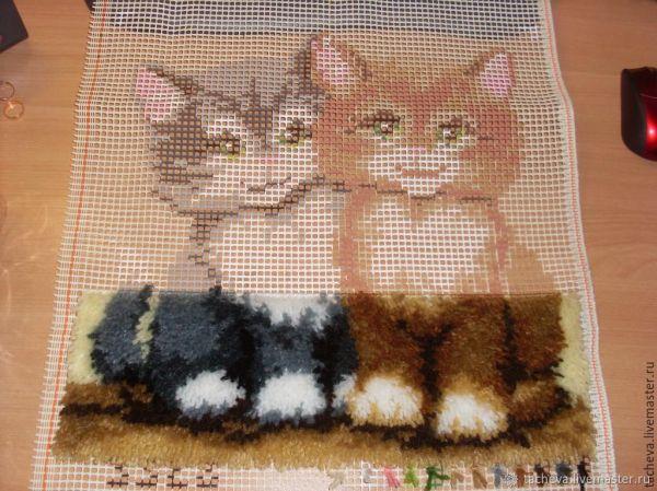 Подушка интерьерная- два кота – заказать на Ярмарке ...