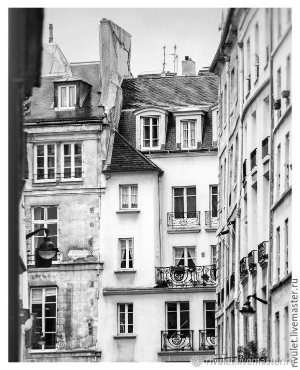 Париж фото картины Триптих, черно белые постеры, Окна на ...