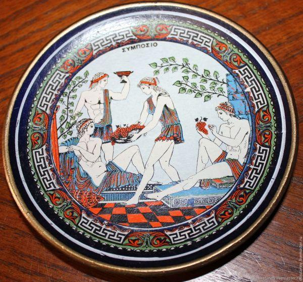 Винтаж: Декоративные тарелочки с сюжетами древней Греции ...