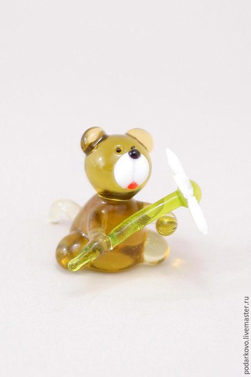 Мишка с ромашкой – купить на Ярмарке Мастеров – 6FSYLRU ...