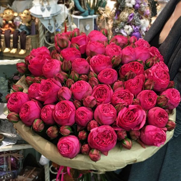 Букет цветов из роз quotПиано пинкquot купить в интернет