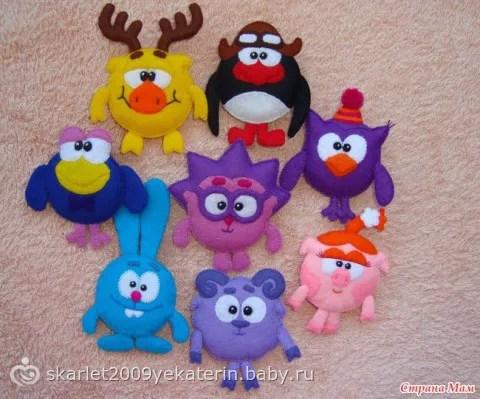 Игрушки из фетра, фетровые игрушки