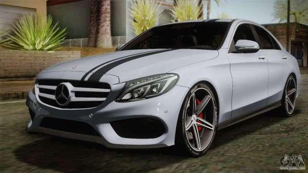 MercedesBenz C250 AMG Edition 2014 SA Plate for GTA San