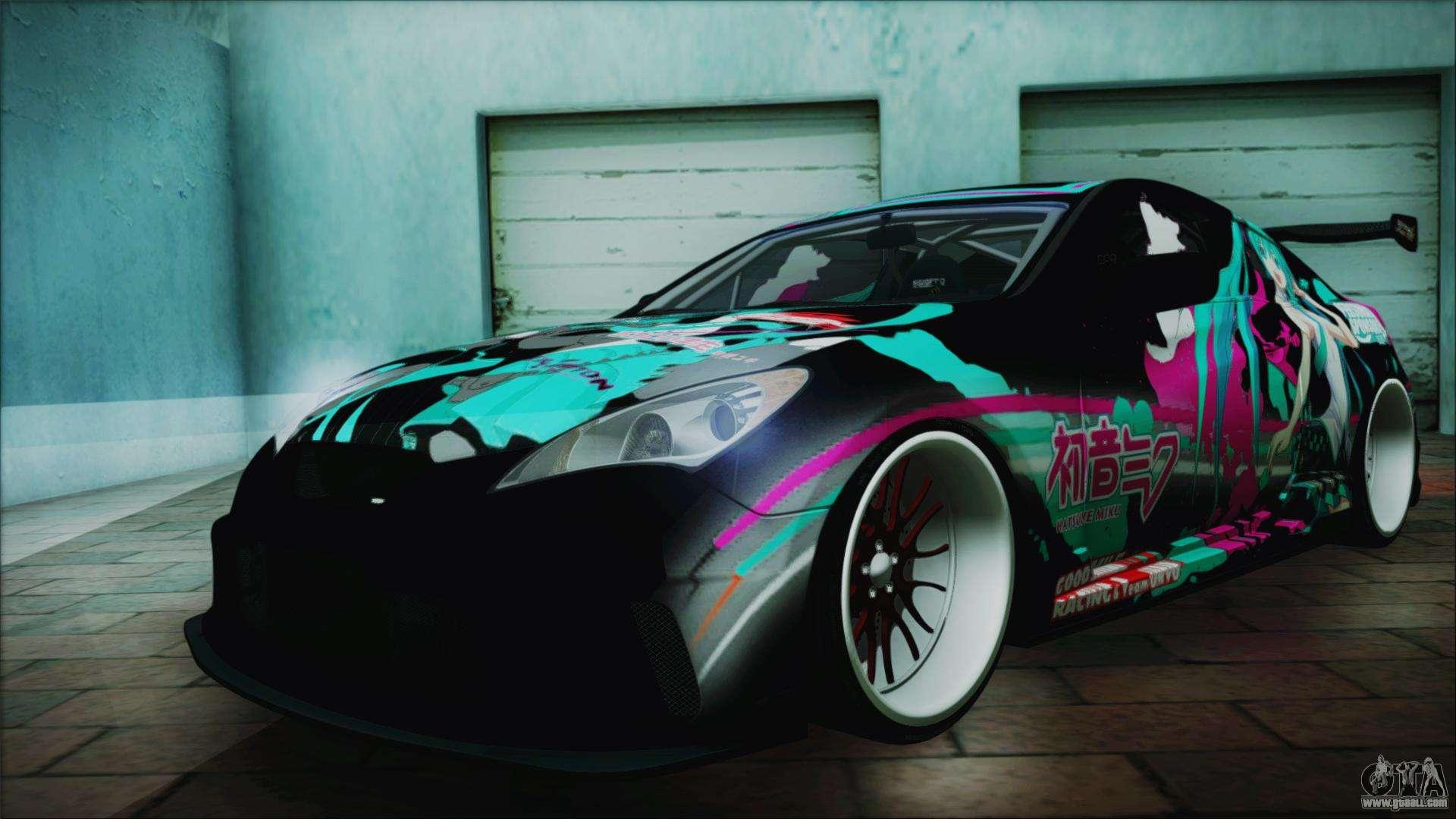 Hyundai Genesis Coupe Hatsune Miku Itasha PJ For GTA San