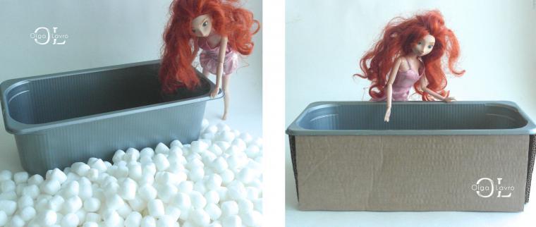 Делаем красивый дом и мебель для кукол Барби, фото № 47