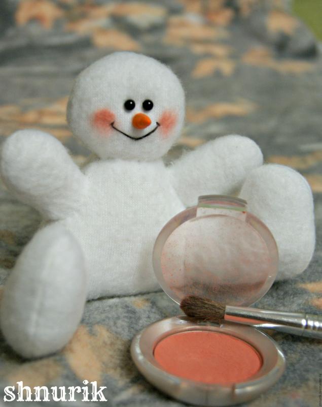 Снеговик в шапочке. Мастер-класс., фото № 19