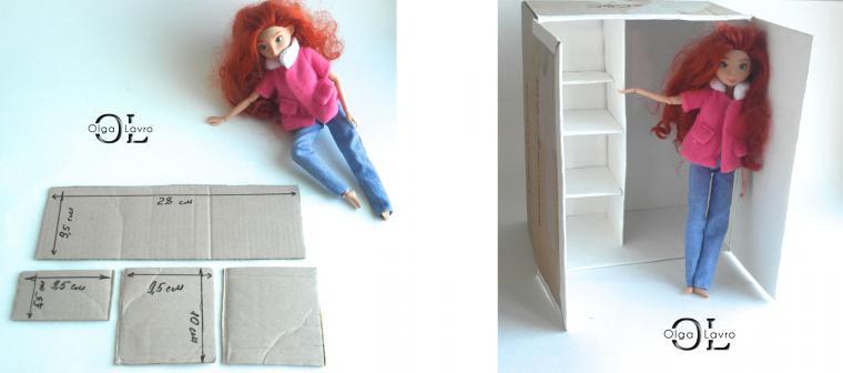 Делаем красивый дом и мебель для кукол Барби, фото № 31