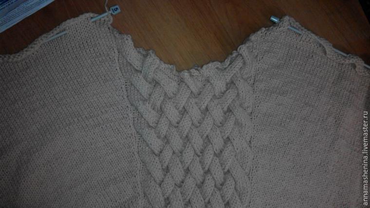 Le deuxième tricot rectangle de la même manière