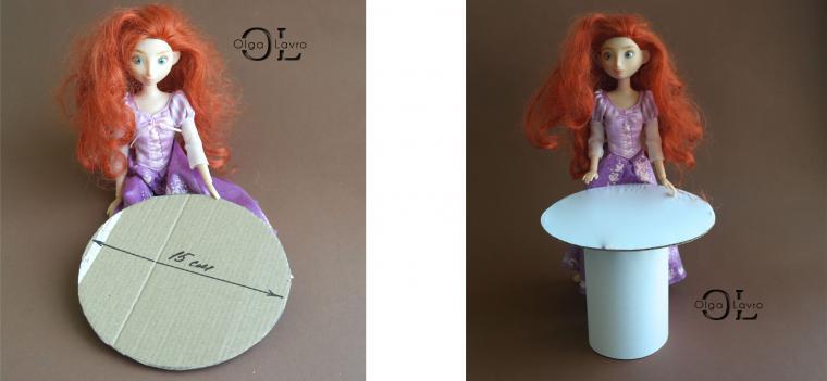 Делаем красивый дом и мебель для кукол Барби, фото № 23