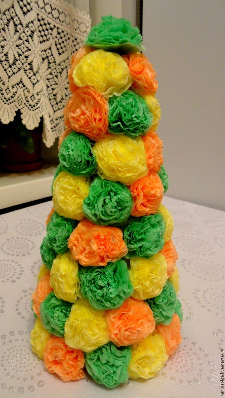 Pomul de Crăciun de Anul Nou din șervețele de hârtie cu mâinile tale, Foto № 18