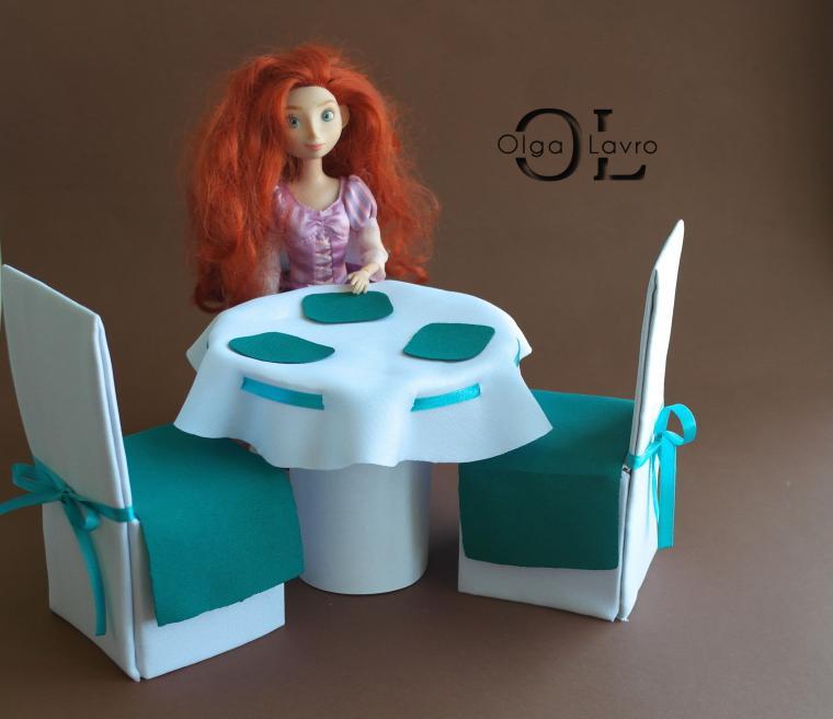 Делаем красивый дом и мебель для кукол Барби, фото № 24