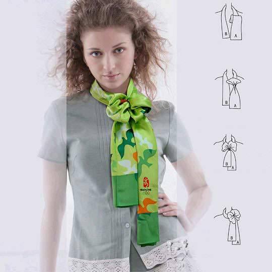 아름답게 스카프를 묶는 28 가지 방법, 사진 № 21