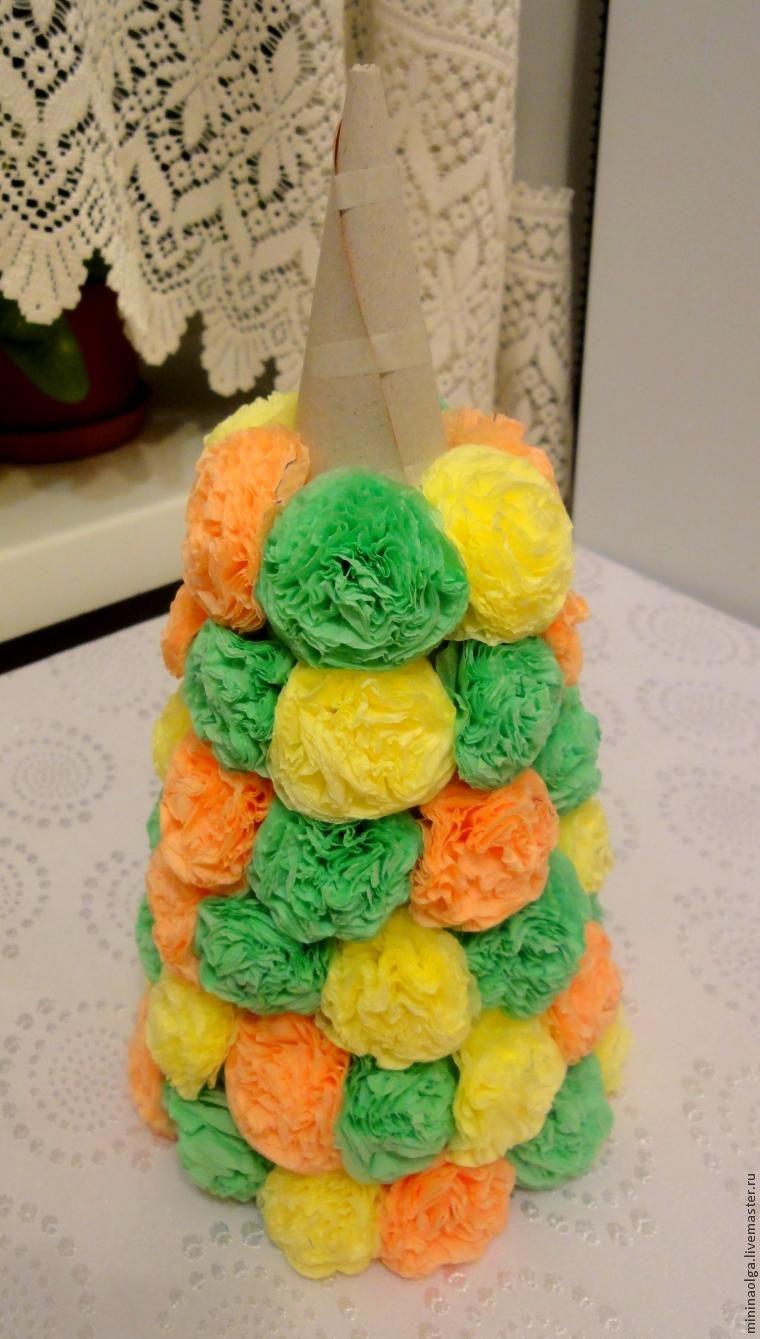 Copacul de Crăciun de Anul Nou din șervețele de hârtie cu mâinile tale, Foto № 17
