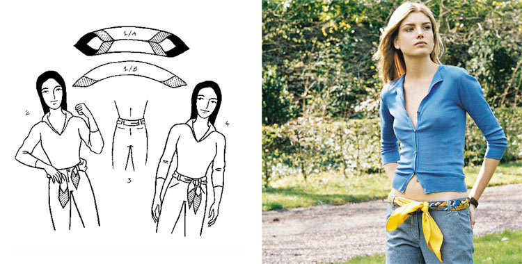 손수건을 묶는 28 가지 방법, 사진 번호 6