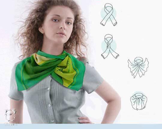 28 방법 아름답게 스카프 넥타이, 사진 № 27