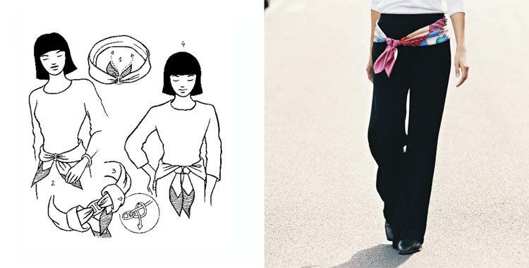 손수건을 아름답게 묶는 28 가지 방법, 사진 № 17
