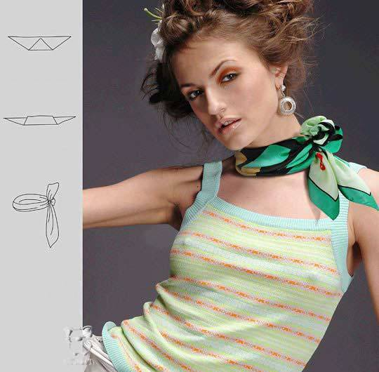 28 개의 방법 아름답게 스카프를 묶어, 사진 № 22