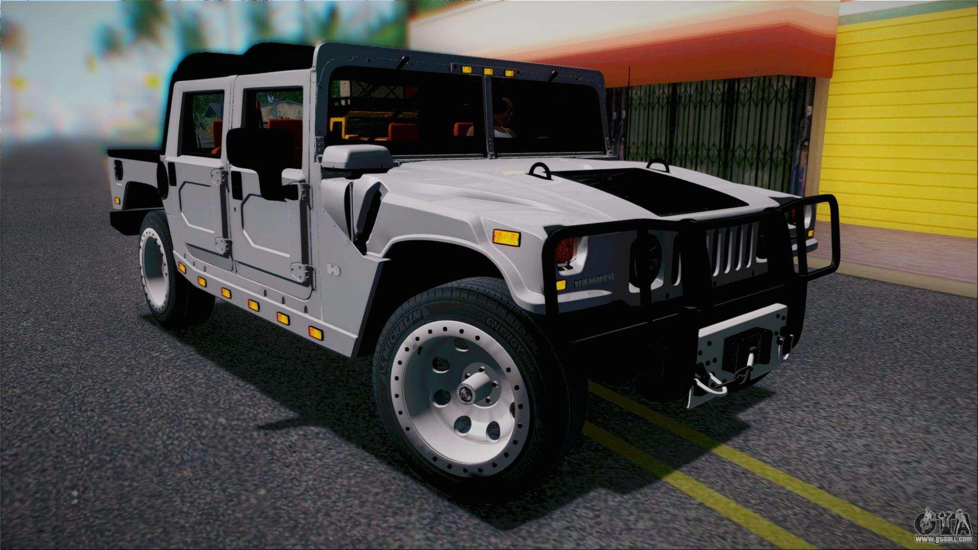 Hummer H1 Alpha OpenTop 2006 Stock for GTA San Andreas