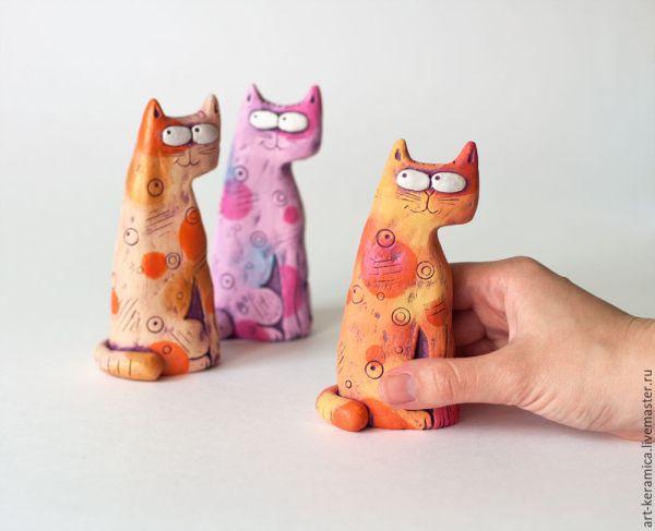 Кот Хитрун. Керамика, статуэтки животных – купить на ...