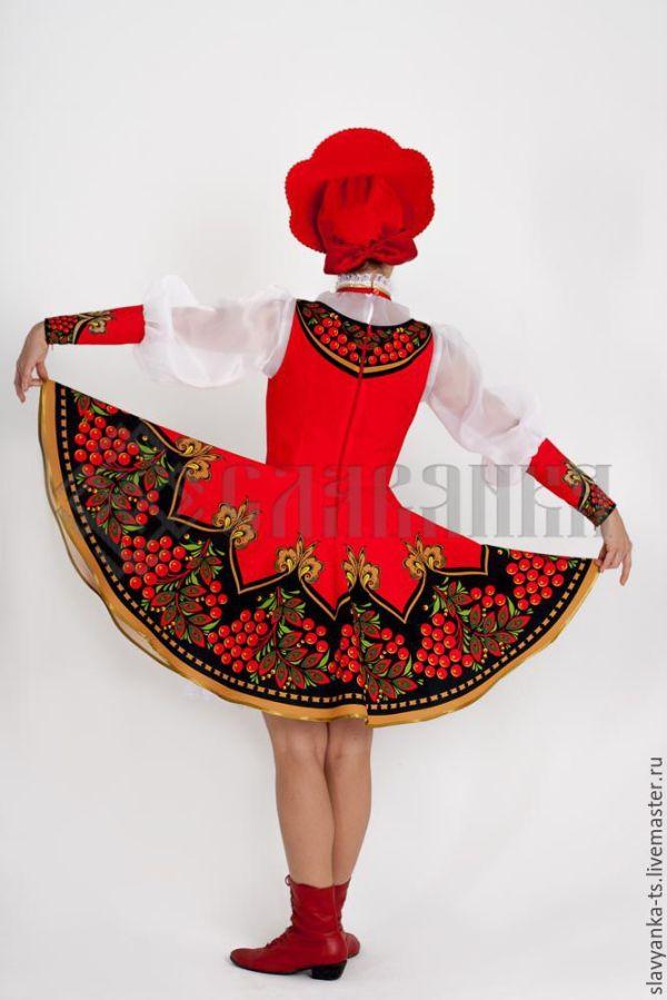 """Купить танцевальный костюм """"Красная Рябина"""" - хохлома ..."""