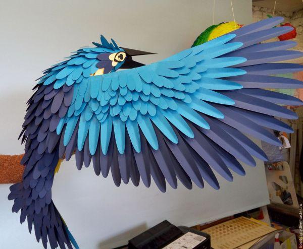 Птица из бумаги - оформление витрин – заказать на Ярмарке ...