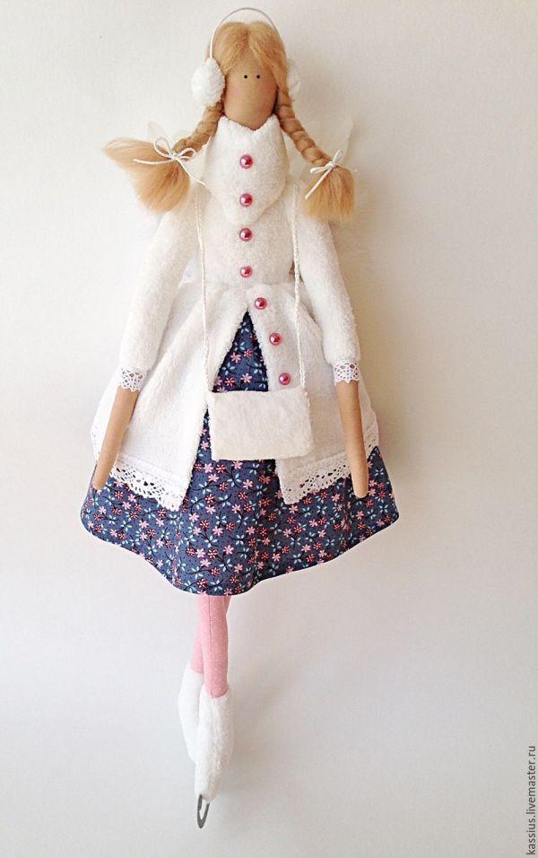Купить Зимний ангел на коньках (Интерьерная кукла тильда ...