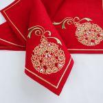Christmas Napkin With Embroidery Golden Ball In The Red Zakazat Na Yarmarke Masterov Avll5com Elochnye Igrushki Moscow