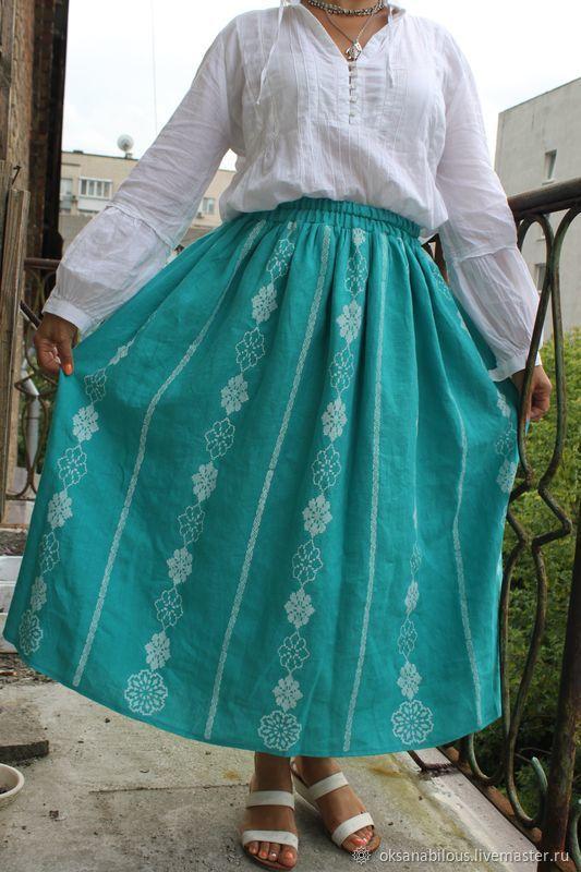 Юбки: Нарядная юбка с набойкой – купить на Ярмарке ...