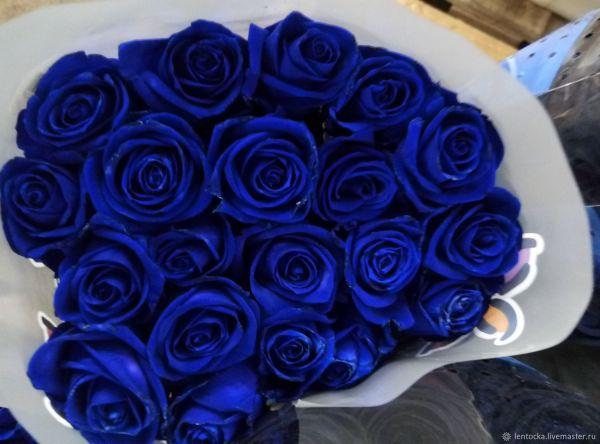 Розы чёрные синие голубые Новые сорта Стильные живые цветы ...