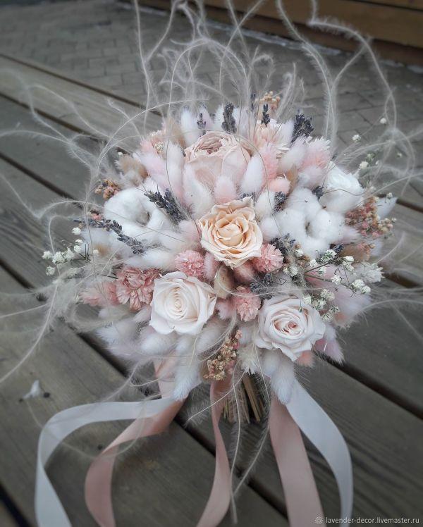 Свадебный букет из сухоцветов и стабилизированных цветов ...