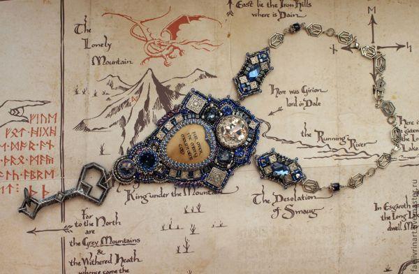 Комплект украшений «За синие горы, за белый туман» - колье ...