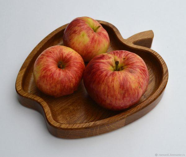 Тарелка из дерева Яблоко – заказать на Ярмарке Мастеров ...