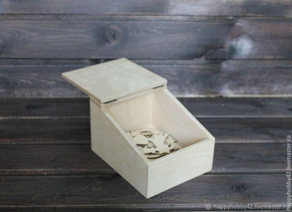 Коробочка с наклонной крышкой заготовка – купить на ...