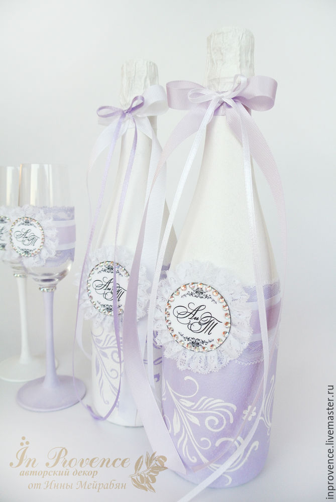 Esküvői fellendülés folytatódik. Esküvői pezsgő dekorációja. 1. rész, Photo № 28