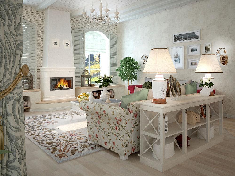 интерьер загородного дома в стиле прованс картинки